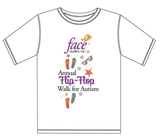 face autism  u00bb flip flop walk for autism awareness
